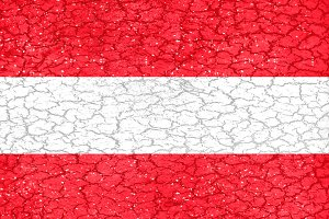 Austria Grunge Style National Flag