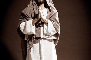 Jesucristo orando a Dios