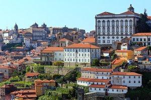 Porto city view (Portugal).