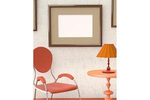 Mocap home retro interior room
