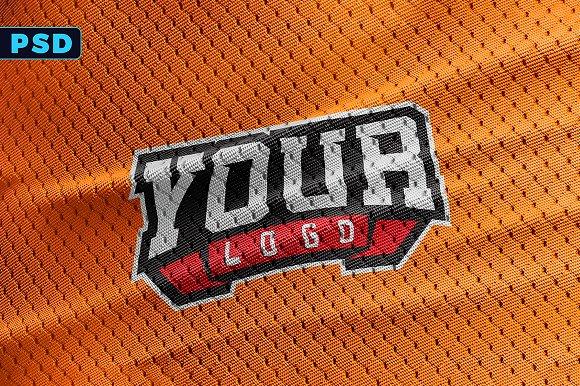 Download Sports Jersey Texture Logo Mockup