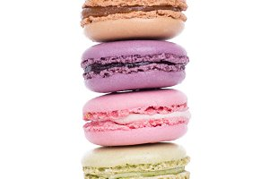 Sweet colorful macaroon dessert