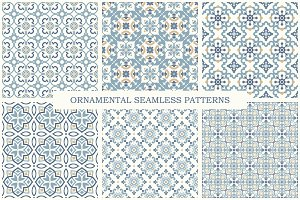 Arabic ornamental seamless patterns