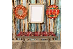 Bright interior mocap ethno home