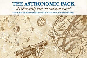 Big Astronomy Illustration Pack