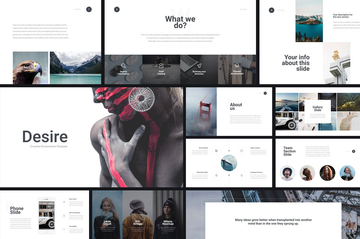 Desire PowerPoint Template + GIFT - Presentation Templates ...