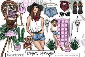 Fashion Girl Desert Clip Art