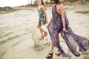 Flowy Dresses on the Beach