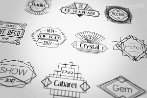 Deco Gatsby Style Badges Logos