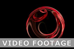 Red Christmas ball abstract loop motion background