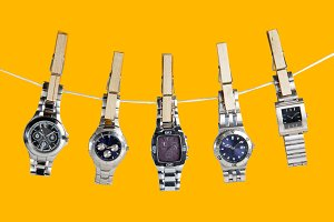 Old wristwatches