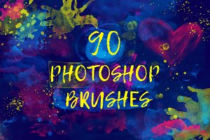 90 Photoshop Watercolour Brushes