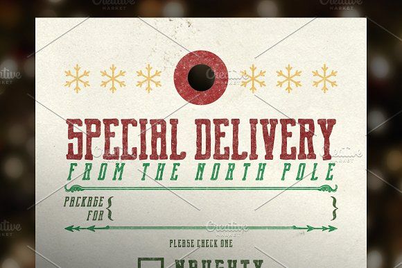 Special Delivery Christmas Tags Graphic Objects Creative Market