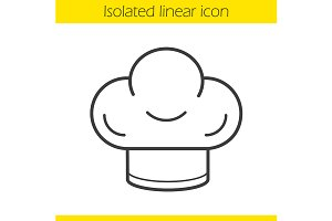 Chef's hat icon. Vector