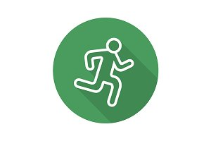Running man icon. Vector