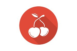 Cherries icon. Vector