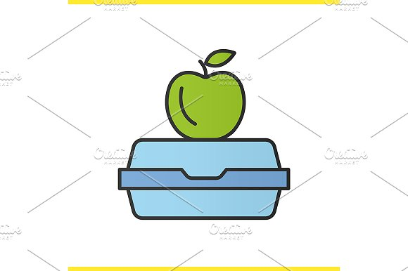 Lunchbox icon. Vector in Graphics