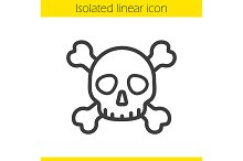 Skull with crossbones icon. Vector