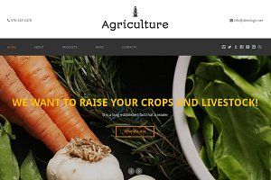 Agriculture One Page Theme