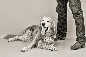 Old Dog and Master SEPIA