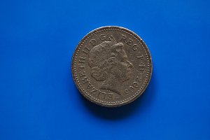 One Pound coin, United Kingdom in London