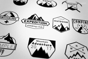 Mountains Badges Logos