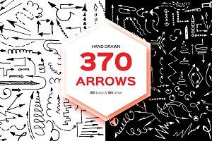 Hand Drawn Arrows 370 BIG SET