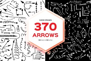 Hand Drawn Arrows 370 BIG SET