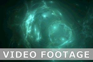 Green nebula pattern abstract motion background