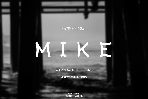 Mike The Handwritten Font