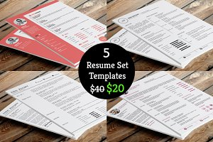 50% Off on Resume Template Bundle
