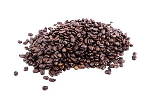 Heap of Fresh roasted coffee beans