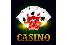Casino poker game cards, lucky number