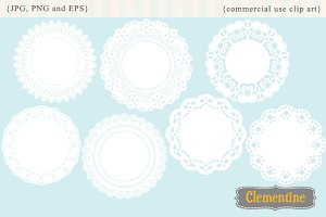 Doilies clip art and vectors