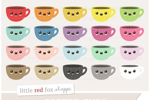 Kawaii Coffee Cup Clipart
