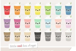 Kawaii Iced Coffee Clipart