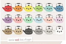 Kawaii Tea Kettle Clipart