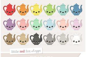 Kawaii Teapot Clipart
