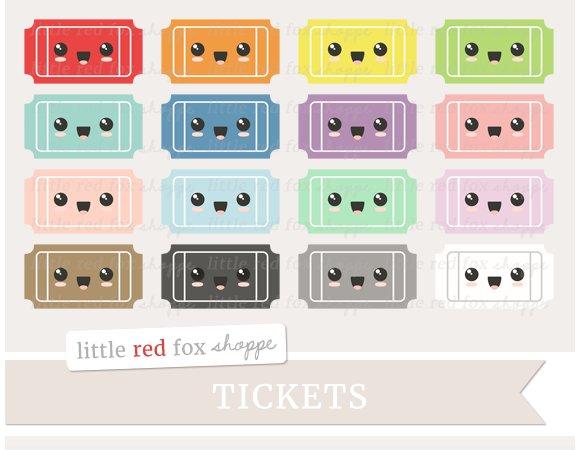Kawaii Ticket Clipart