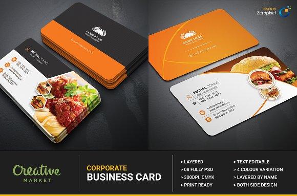 Free Restaurant Business Card Templates » Designtube