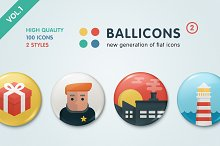 Ballicons 2 Vol.1 - flat icon set