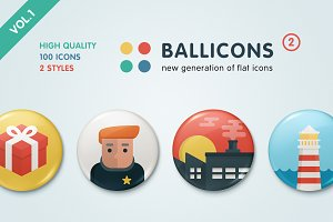 Ballicons 2 Vol.1 - flat icon set