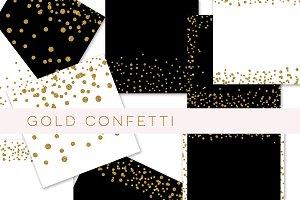 Gold glitter confetti paper