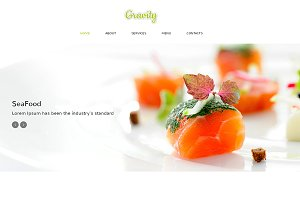 Gravity Responsive One Page Theme