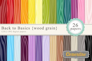 Wood grain digital papers