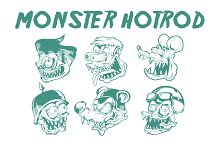 MONSTER HOTROD HEAD