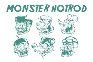 MONSTER HOTROD HEAD #1