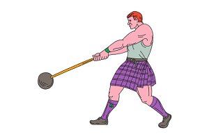 Weight Throw Highland Games Athlete
