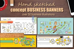 Hand sketched  BUSINESS BANNERS