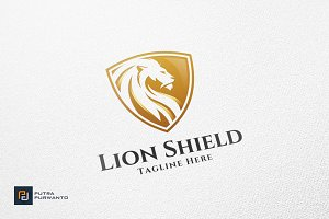 Lion Shield - Logo Template